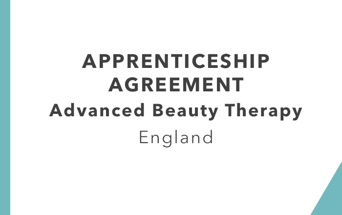 Apprenticeship Agreement: Advanced Beauty Therapy (England)