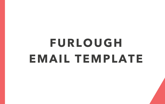 Furlough template email