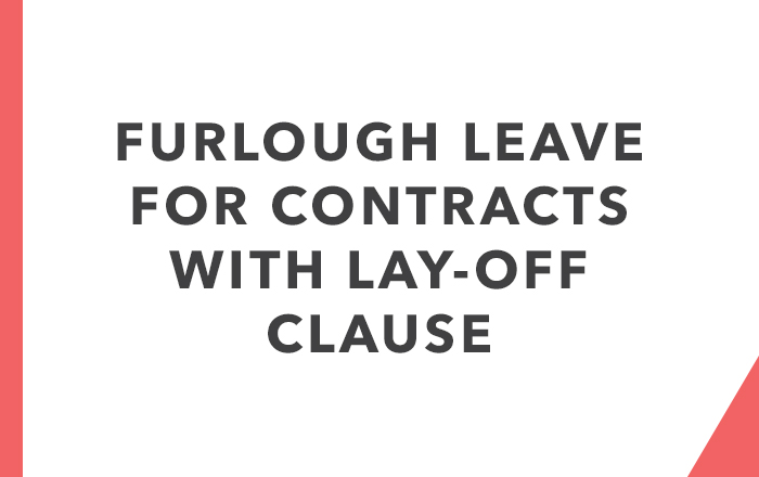 Furlough letter template for contracts with a lay-off clause