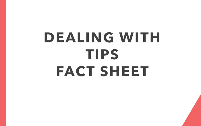 Dealing with Tips Fact Sheet